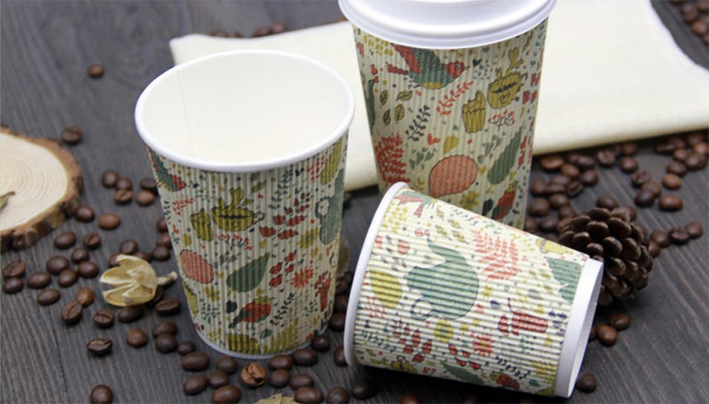 RIPPLE WALL PAPER CUPS